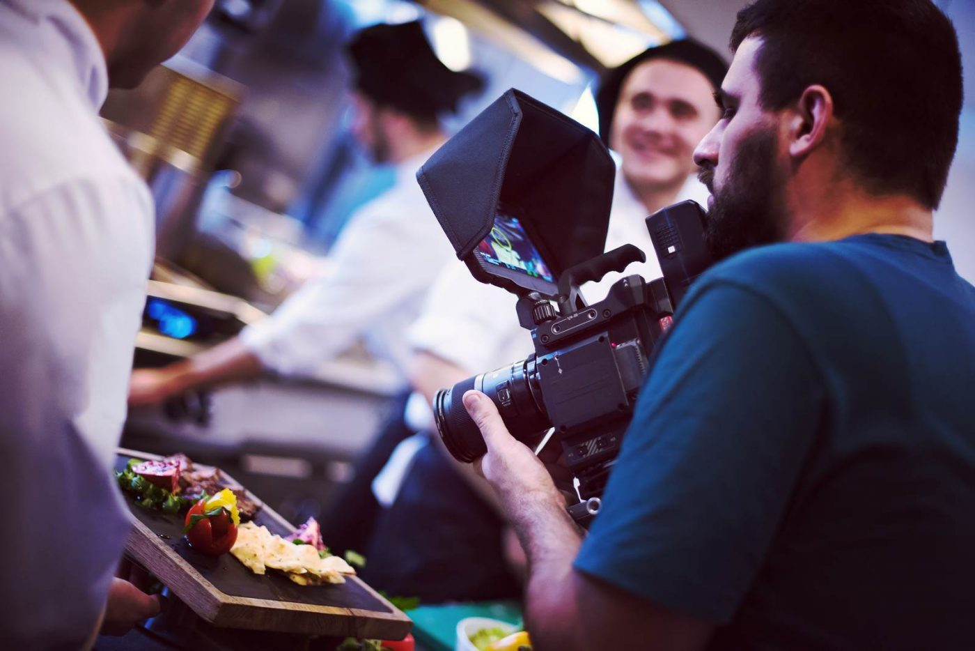 commercial videography team shoots video in Denver